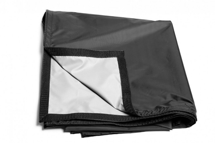 "Black/Gray Flag for Strobius Scrim Frame 122x122 cm (48x48"")"
